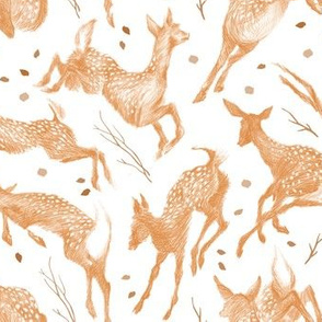 Pretty Little Fawns & Leaves
