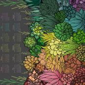 Succulent Rainbow 2020 Tea Towel Calendar