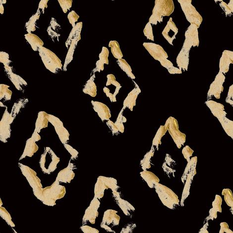 "8"" Southwestern Gold Diamond // Black fabric by hipkiddesigns on Spoonflower - custom fabric"