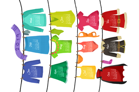 2019 hanging on the clothesline fabric by analinea on Spoonflower - custom fabric