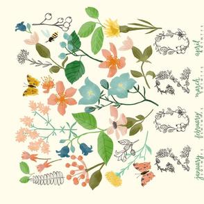 Wild Botanica Tea Towel Calendar