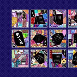 2019 Crazy Quilt Tea Towel Calendar