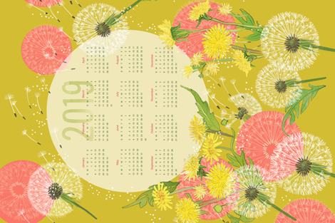 2019 DandelionTeaTowel fabric by robinpickens on Spoonflower - custom fabric