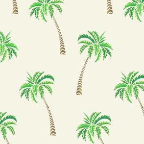 Coconut Palms on Ecru