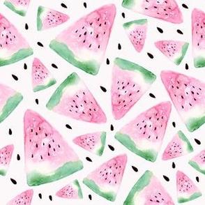 Watercolor watermelon - white