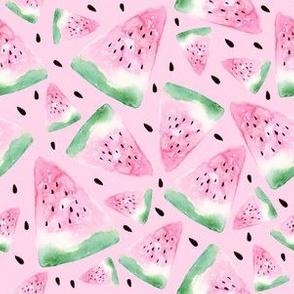Watercolor watermelon - pink
