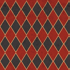 Harlequin Dark Red