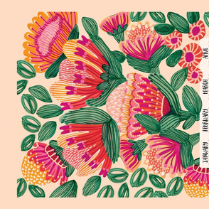 Wild Garden 2019 Tea Towel