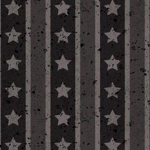 Stars and Stripes Dark Monochromatic