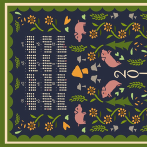 2019 Year of the Pig Tea Towel