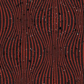 Warping Lines Black Red