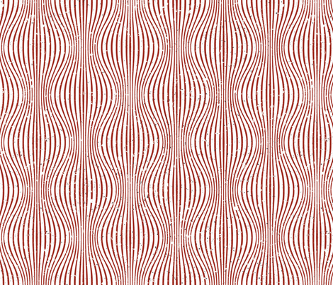 Warping Lines White Red fabric by nellik on Spoonflower - custom fabric