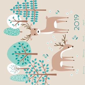 deer calendar 2019