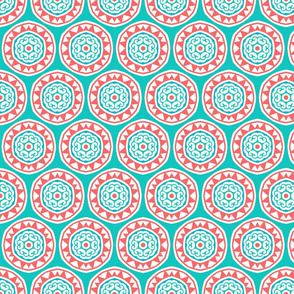 Ocean Coral Reef Mandalas on Turquoise Water