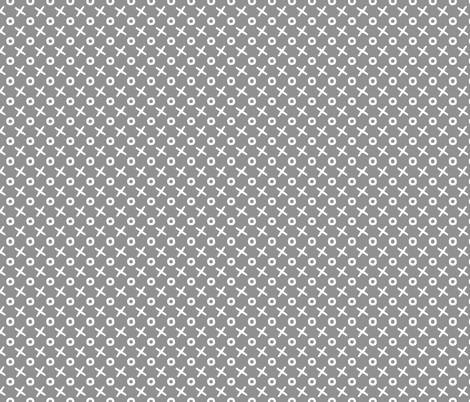 tic tac toe grey fabric by erin_mcclain_studio on Spoonflower - custom fabric