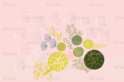 Kokedama Tea Towel Calendar 2019 M+M Icing by Friztin