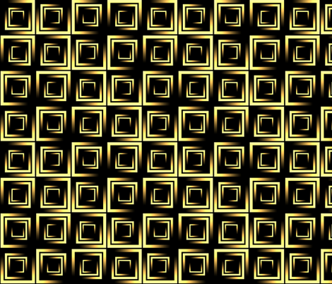 golden ombre squares on black fabric by katz_d_zynes on Spoonflower - custom fabric