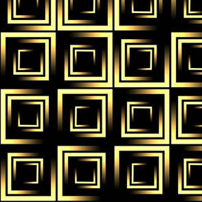 golden ombre squares on black