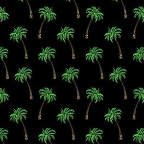 Coconut Palms on Black Small