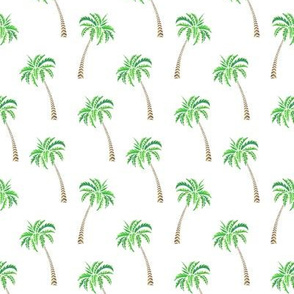 Coconut Palms on White Small