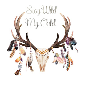 "27""x36"" Stay Wild My Child with 1.5"" Space On Sides"