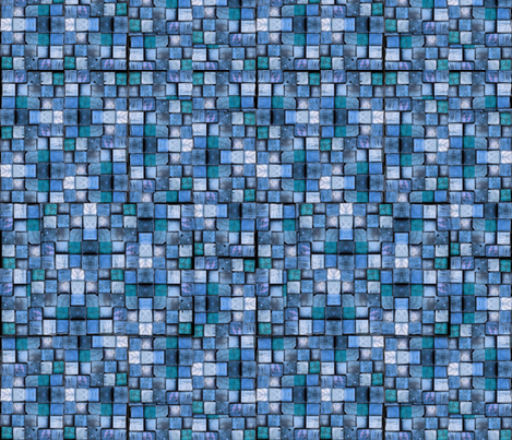 Blocks shades of blue fabric by whimzwhirled on Spoonflower - custom fabric