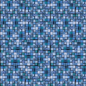 Blocks shades of blue
