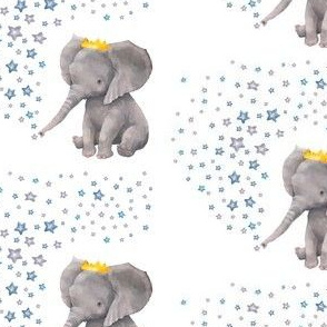 "4"" Baby Boy Elephant with Stars Mix and Match"