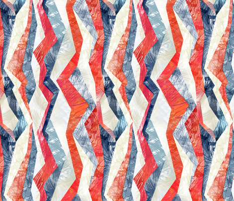 red-white_blue-stripes fabric by wren_leyland on Spoonflower - custom fabric