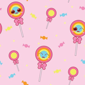 Sweet Treat Lollipops - Baby Pink