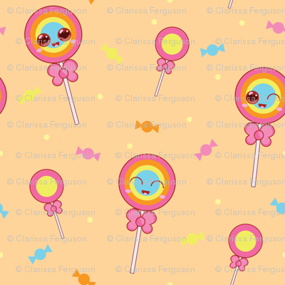 Sweet Treat Lollipops - Orange