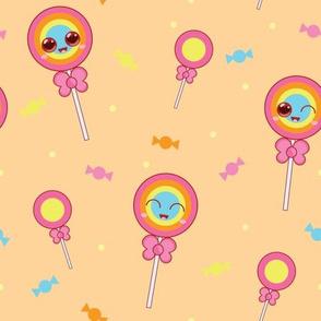 Sweet Treat Lollipops - Orange