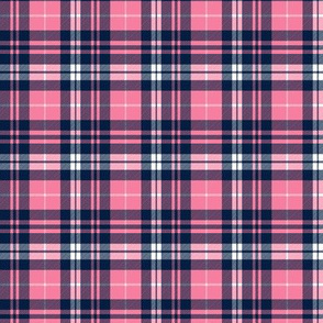 (micro scale) fall plaid || hot pink and navy C18BS