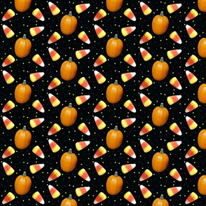 Candy Corn and Pumpkins