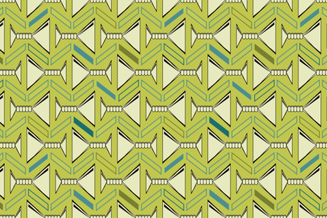 retro martinis tea towel in olive fabric by groundnut_apiary on Spoonflower - custom fabric