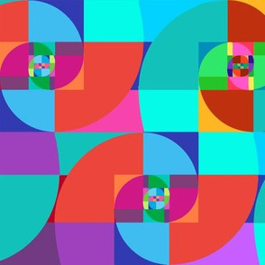 Awesome Fibonacci Spiral  Rainbow