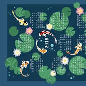 Koi pond calendar