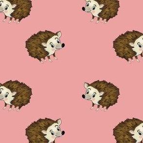 Hedgehog on pink
