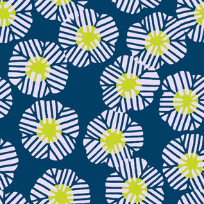 batik_flower_random_lavender_dull_yellow