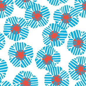 batik_flower_random_light blue_vermilion