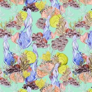 Watercolor Coral reef - calypso