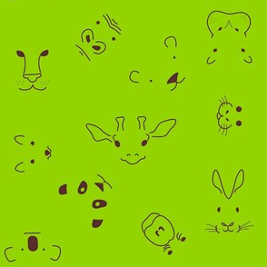 Zoo faces  (lime)