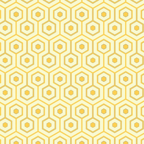 Gold Lemon Hexagon