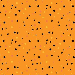 Crazy Confetti Dots in Oranges