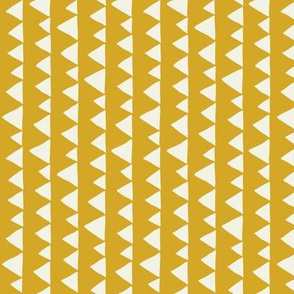 Wolf/Llama triangles on mustard (rotated)