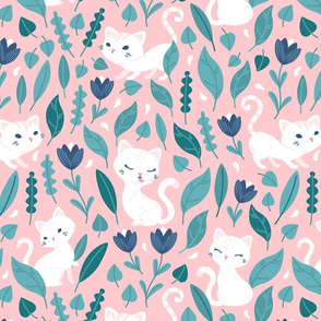 Oh Hello Cats - pink mint