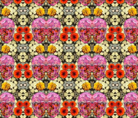 Day of the Dead 1 fabric by zmarksthespot on Spoonflower - custom fabric