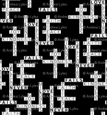 Fruitage Crossword Black