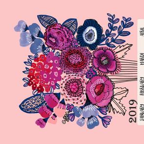 2019 Floral Bouquet Tea Towel