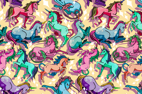 sparkly unicorns fabric by ariellelouise on Spoonflower - custom fabric